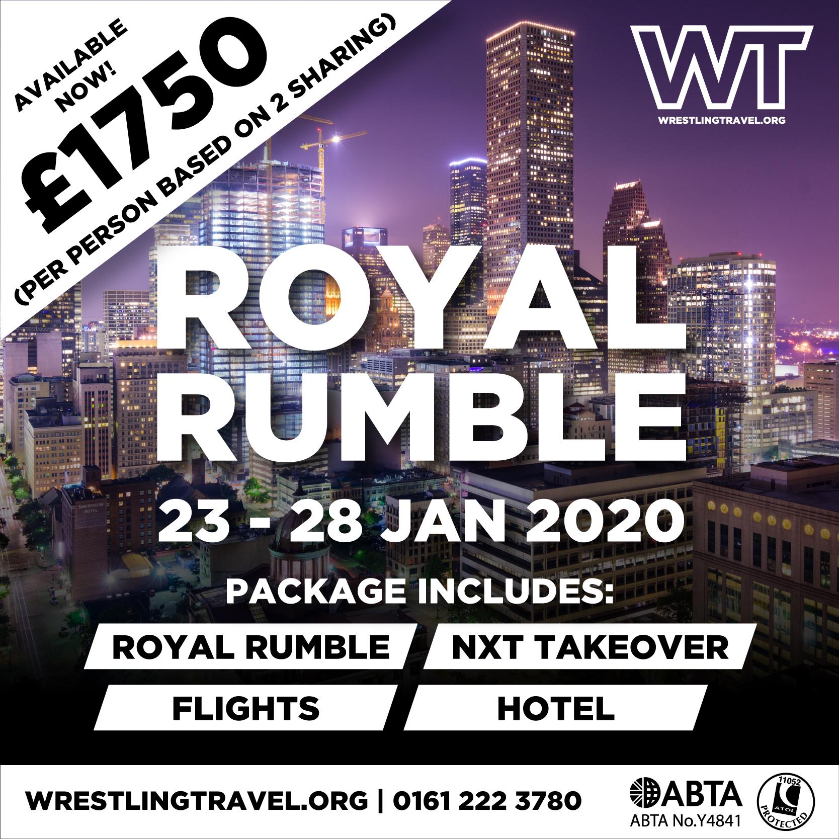 Wrestling Travel - Royal Rumble Travel Packages, Houston ...