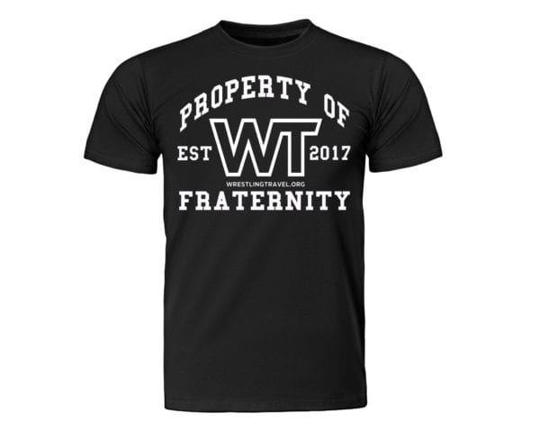 Wrestling Travel: Property Of WT Fraternity T-Shirt