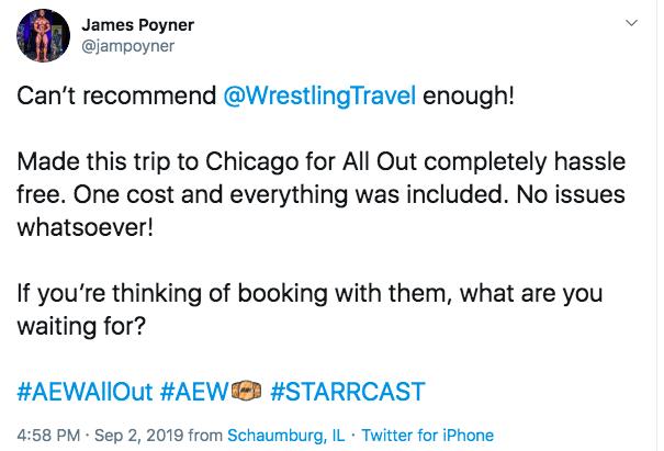 Wrestling Travel Twitter review