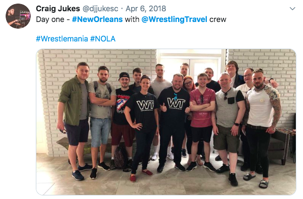 picture of wrestling travel post