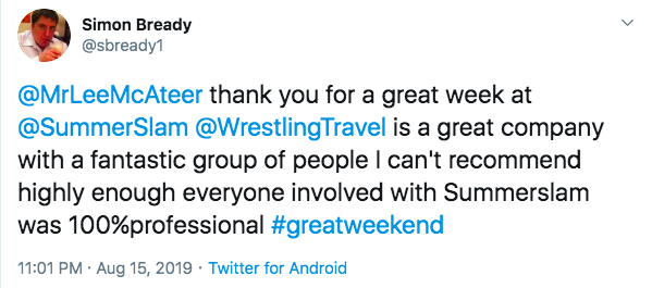 positive review of summerslam